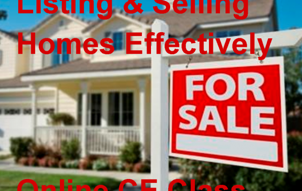 Listing & Selling Homes Effectively