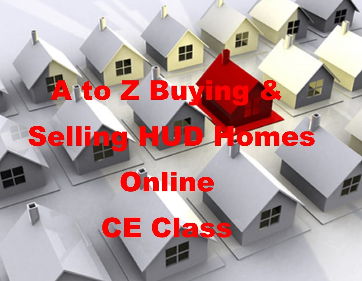 3 Hours Contract Law CE-A to Z Buying and Selling HUD Homes Online